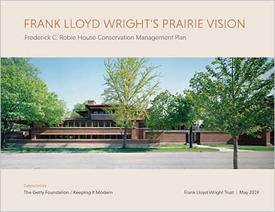 Robie House Conservation Plan cover