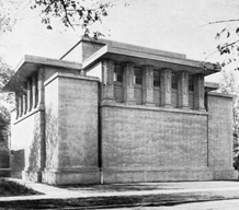Unity Temple, Lake Street elevation, ca. 1909