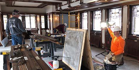 Robie House Restoration Hard Hat Tour