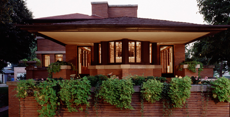 Robie House at dusk