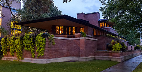 Robie House at night