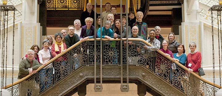 Volunteers on Rookery stairs