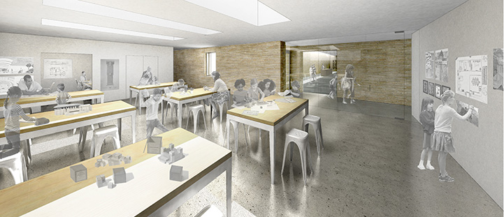 The education studio, which will provide design space for students and families