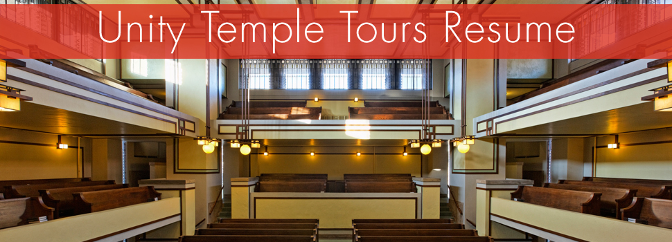 Unity Temple Tours Resume
