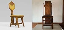 Frank Lloyd Wright chair exhibition